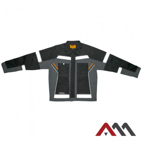 Siva odsevna jakna