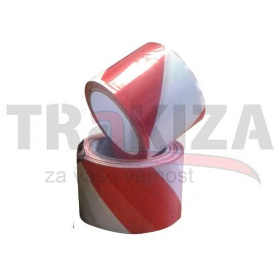 Opozorilni nelepljivi trakovi 70mm x 200m rdeče-beli