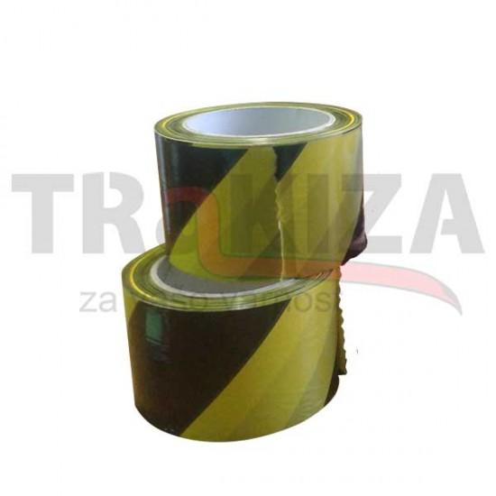 Opozorilni nelepljivi trakovi 70mm x 100m rumeno-črni